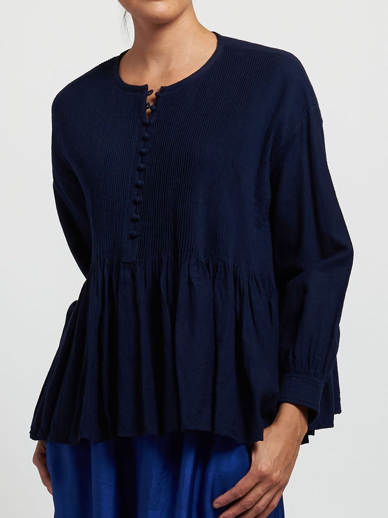 Solid Blouses Long Sleeve Crew Neck Shirts