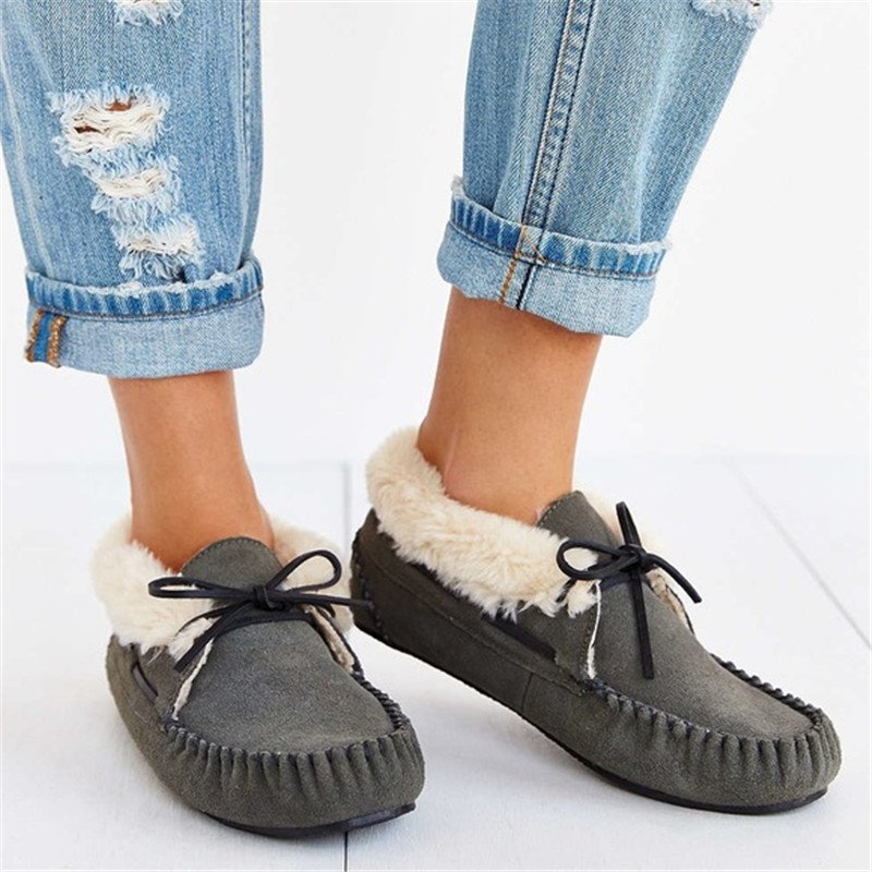 Women Casual Comfy Fleece Lining Loafers