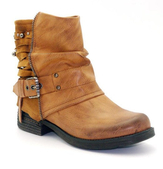 Women Plus Size Microfiber Leather Adjustable Buckle Daily Spring/Fall Chunky Heel Boots