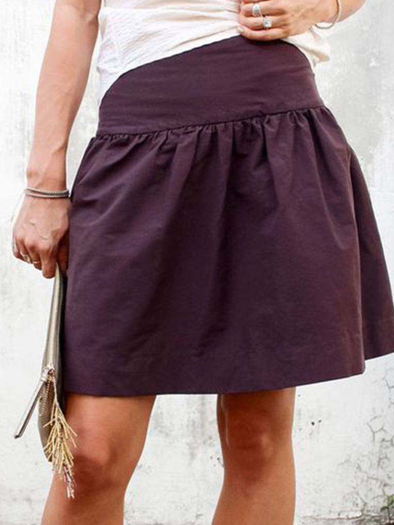 Plus Size Casual Plain Skirts
