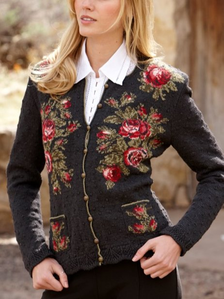 Ladies' Knitted Long Sleeve Sweater Cardigan