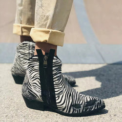 Women Chunky Heel Ankle Boots