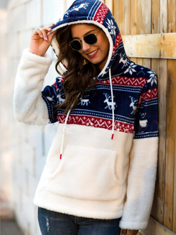 Plus size Cotton Long Sleeve Christmas Hoodies