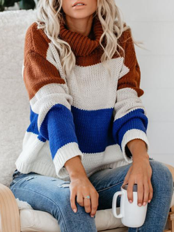 Plus size Long Sleeve Knitted Sweater