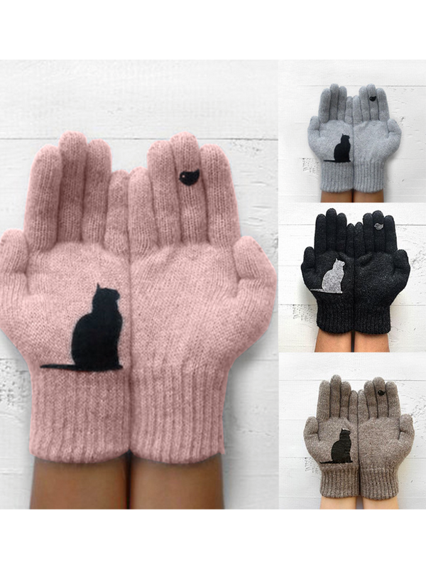 Warmer Knitted Gloves