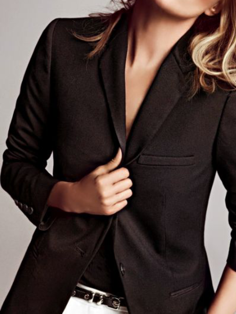 Plus size Long Sleeve Suit Outerwear