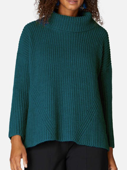 Plus size Knitted Turtleneck Long Sleeve Sweater