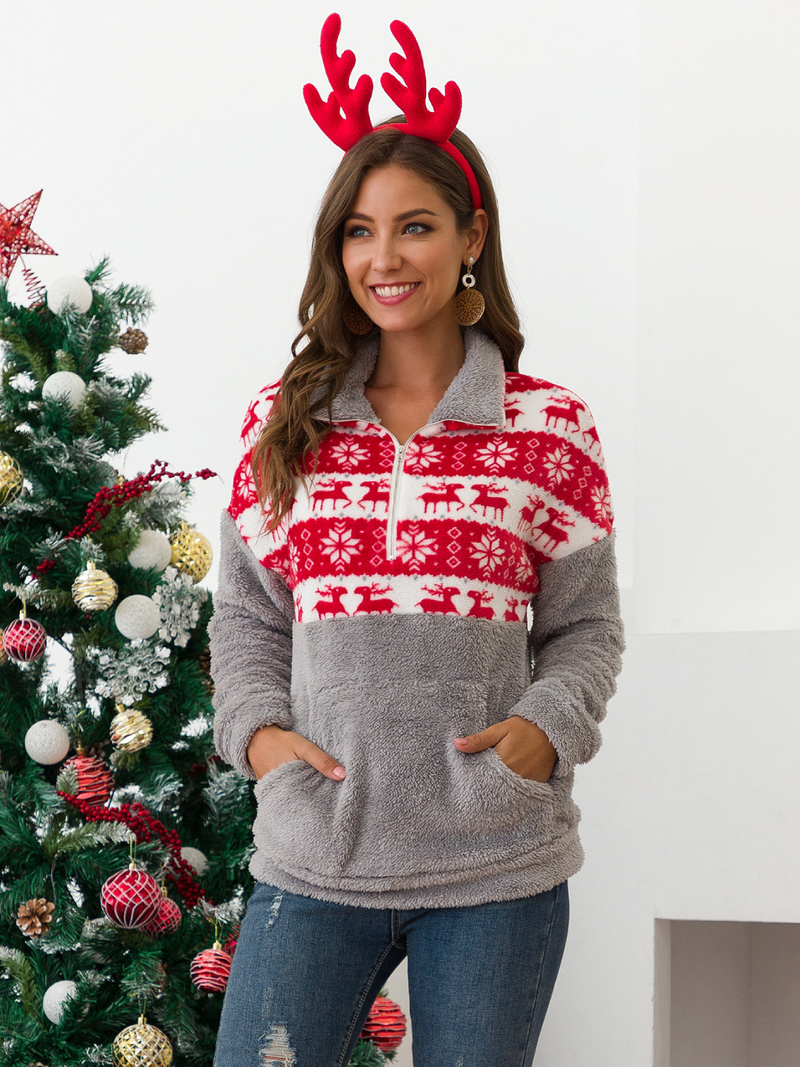Plus size Long Sleeve Christmas Hoodies