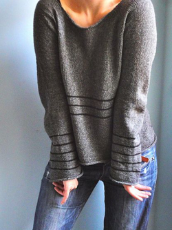 Plus size Knitted Long Sleeve Sweater