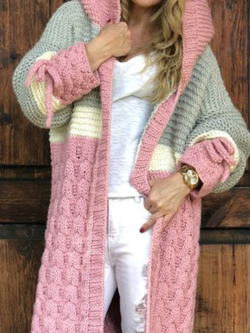 Plus size Long Sleeve Knitted Outerwear