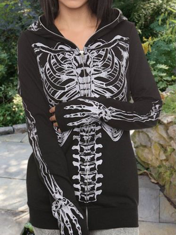 Plus size Long Sleeve Cotton Halloween Outerwear