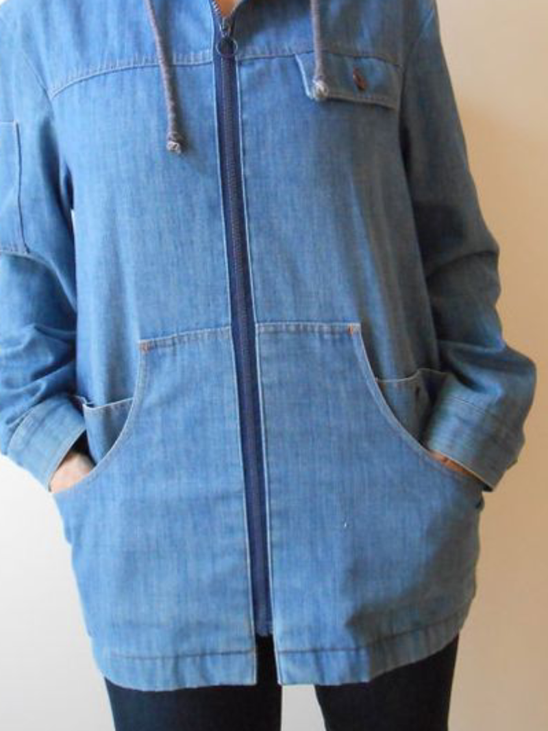 Plus size Denim Long Sleeve Casual Outerwear