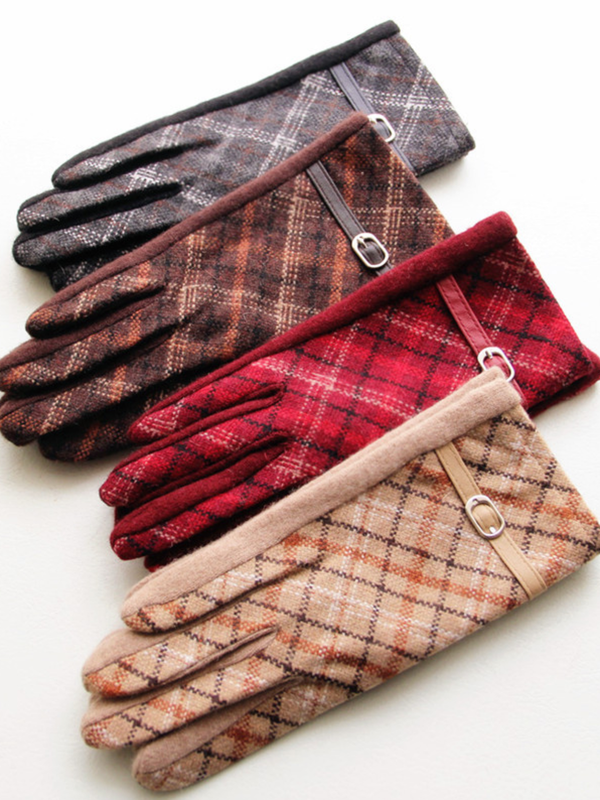 British Plaid Cashmere Gloves & Mittens