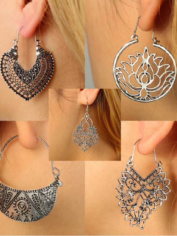 Boho Vintage Alloy Earrings