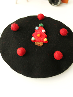 Family Wool Berets Christmas Hats