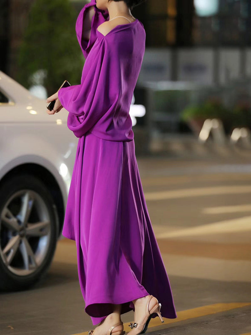 Elegant One Shoulder Solid Suits
