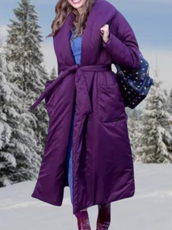 Plus size Solid Long Down Jacket