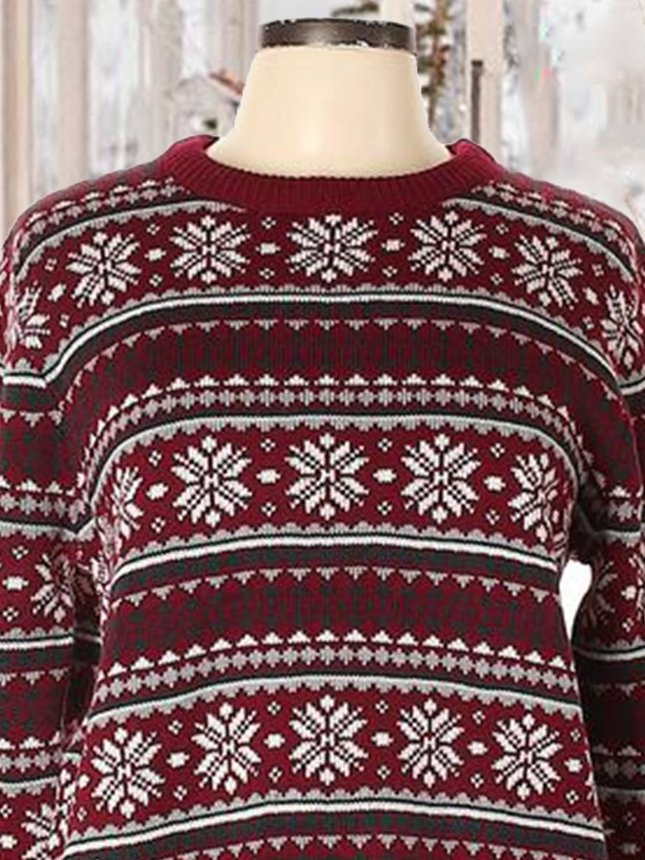 Casual Shift Tribal Crew Neck Sweater