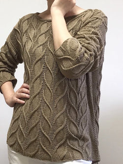 Plus Size Casual Plain Vintage Sweater