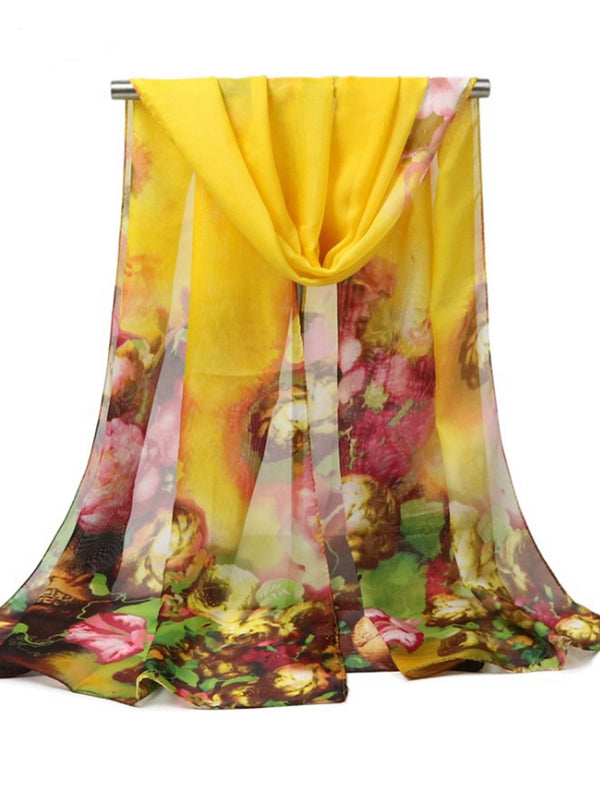 160CM Women SOil Painting Printing Scarves Casual Oversize Warm Soft Shawl