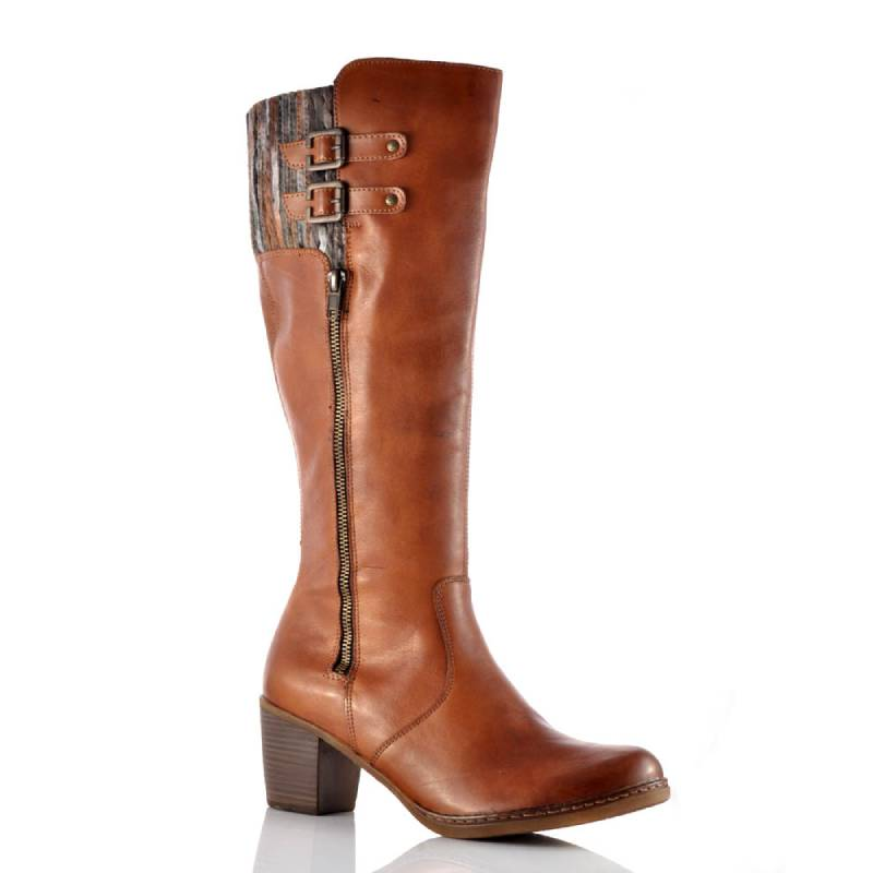 Women  Comfortable  Artificial Leather Mid Heel Boots