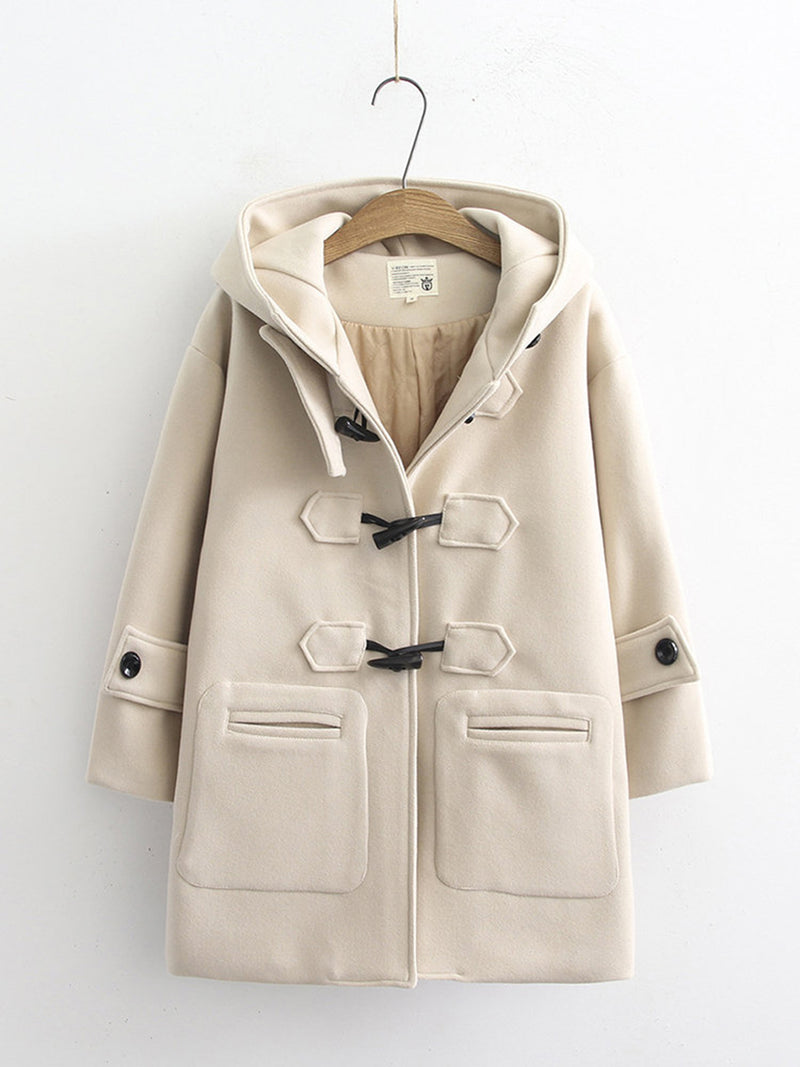 Hoodie Casual Cotton-Blend Outerwear