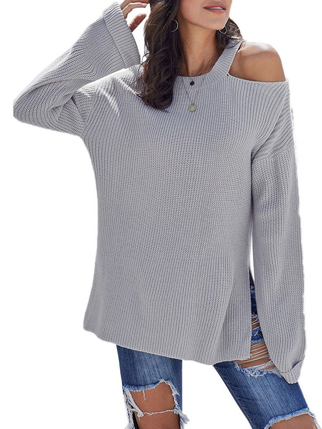 Casual Solid Long Sleeve Knitted Tops