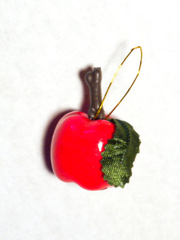 Lacquered Red Apple Ornaments 12pcs