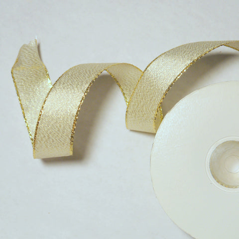 Gold Mesh Wire Ribbon 7/8'' 25 Yards