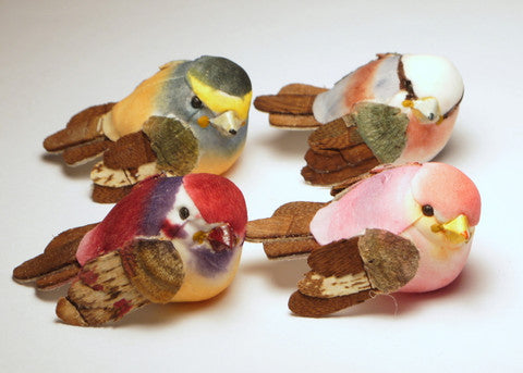 Assorted Mushroom Birds 1.75'' 8pcs