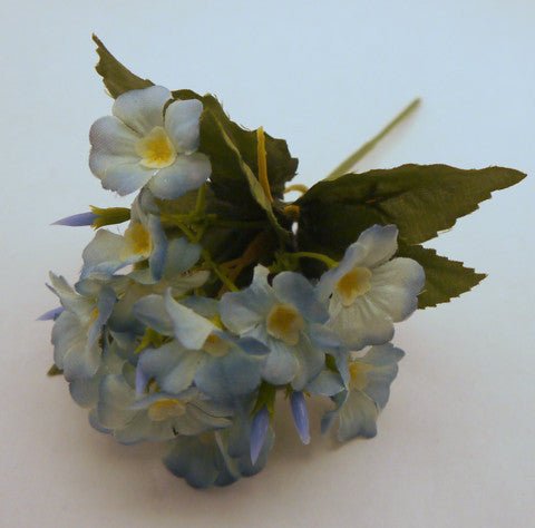 Blue Dogwood Silk Flowers 1''