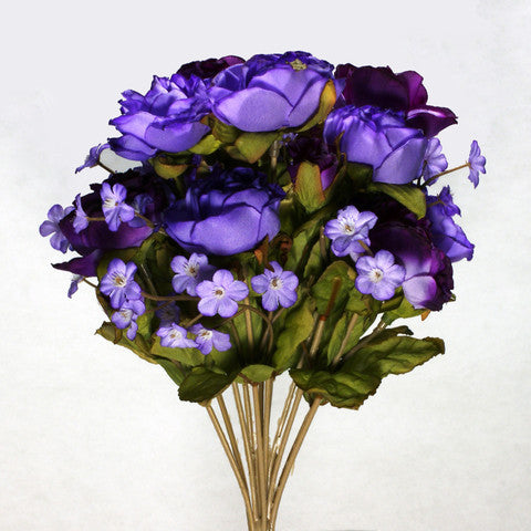 Bouquet Silk Flowers Purple & Lavender 1pc
