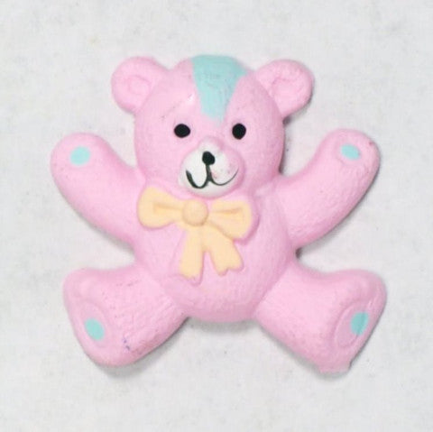Resin Pink Teddy Bear Cabochons 1'' 10pcs