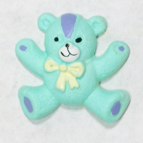 Resin Teal Teddy Bear Gift Decorations 1'' 10pcs