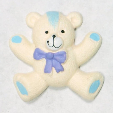 Resin White Teddy Bear Cabochon 1'' 10pcs
