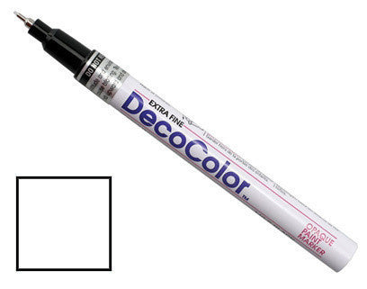 DecoColor Extra-Fine Paint Marker - Opaque White