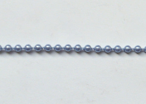 Dusty Blue Fused Pearl String Beads 2.5mm 36 Yards