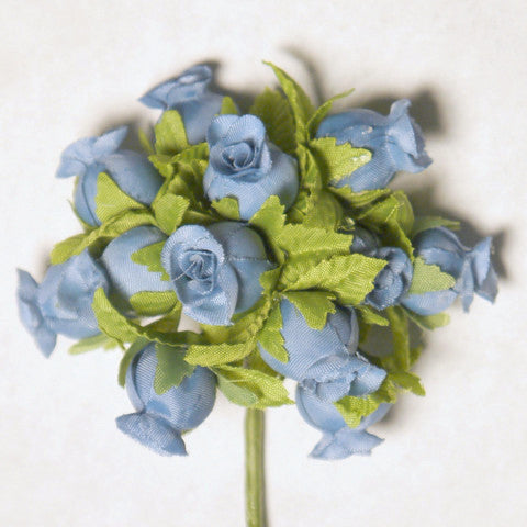 Dusty blue poly rose silk flowers 075 144 rose buds formosa crafts dusty blue poly rose silk flowers mightylinksfo