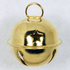 Gold Jingle Bells with Stars 12pcs