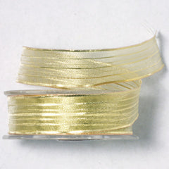 Gold Mesh Wire Ribbon 5/8'' 25 Yards