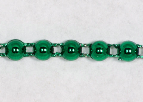 Green Fused Pearl String Half Beads 6mm 36 Yards
