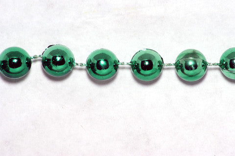 Green Fused Pearl String Beads 8mm 17 Yards