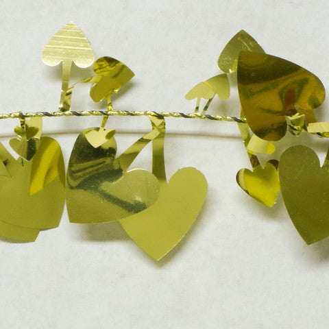 Metallic Gold Heart Garland 9' 1pcs