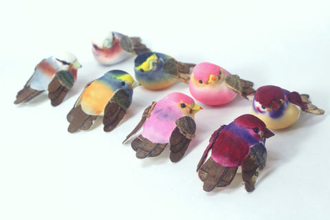 Assorted Mushroom Birds 1.5'' 24pcs