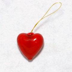 Lacquered Heart Ornament 12pcs