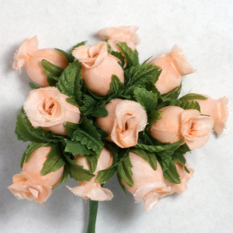 Light Peach Poly Rose Silk Flowers 0.75'' 144pcs