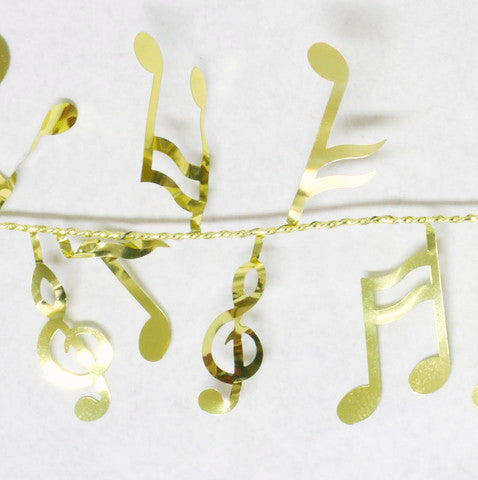 Metallic Gold Music Garland 9' 1pcs