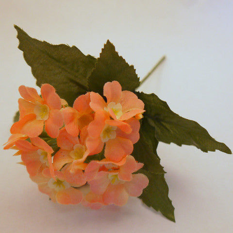 Peach Dogwood Silk Flowers 1''