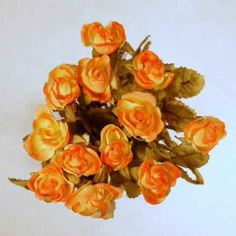 Peach Mini Rose Silk Flowers 0.5''