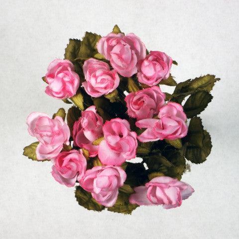 Pink Mini Rose Silk Flowers 0.5''